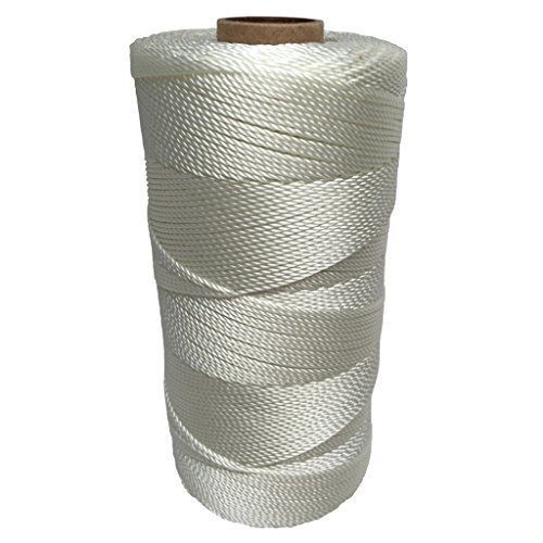 SGT KNOTS Twisted Nylon Seine Twine #15 100% Nylon Fiber- High Tensile Strength & Versatile Utility Twine - Crafting, Camping, Boating, Mason Line, Fishing, Hunting, Survival, Marine (1563 ()