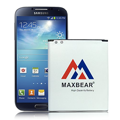 MAXBEAR Galaxy S4 Active Battery,3800mAh Extended Slim Replacement Battery for Samsung Galaxy S4 Active S 4 i9295 i537 AT&T Phone | S4 Spare Battery [12 Month Warranty]