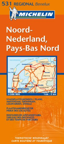 Michelin Map Netherlands: North 531