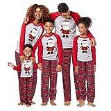 Matching Christmas Family Santa Pajamas for Mom Dad Kids Sleepwear Set Nightwear