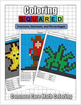 Coloring Squared Fractions Decimals And Percentages Cameron