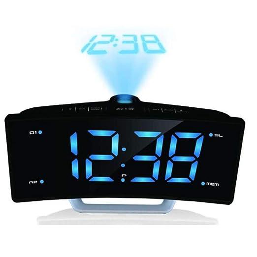Mire La Proyección del Escritorio Reloj con Proyección De Hora ...
