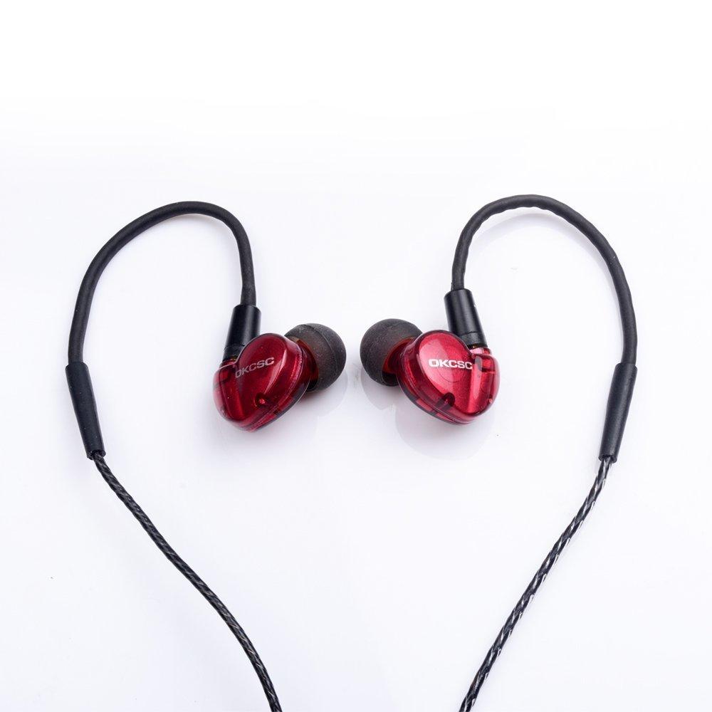 Okcsc Dd3 Hybrid Earphones Ear Hanging Design Sport Fleksible Earphone Ipad 3 Running Earbud Headsets Mmcx Cable Material Type Hifi Built In Microphone Corded