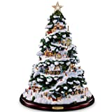 Thomas Kinkade Village Christmas Artificial Tabletop...