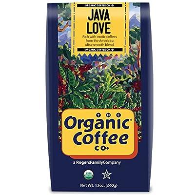The Organic Coffee Co., Java Love- Whole Bean, 12 Ounce, USDA Organic