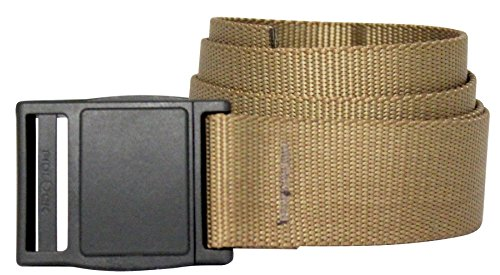 Bison Designs Low Profile 38mm Belt with New Magnet Buckle, Coyote Brown, Medium/38