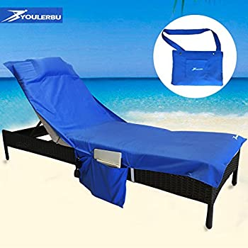Perfect beach or pool lounge chair towel for Chaise lounge beach towels