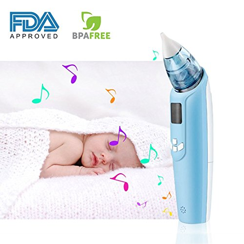 InFanso Baby Nasal Aspirator Electric Nose Cleaner with 4 Silicone Tips