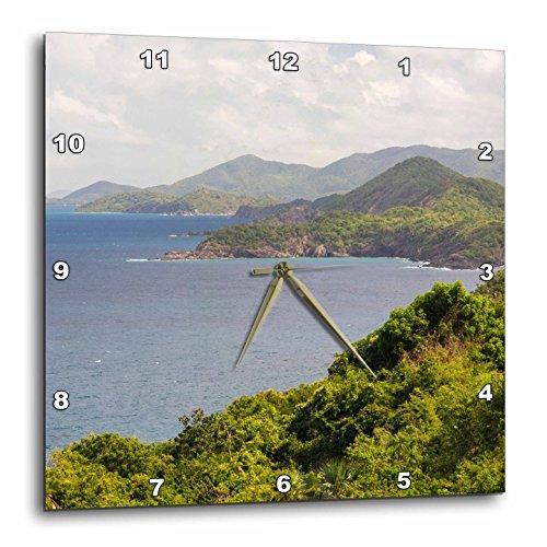 3D Rose US Virgin Island North Shore St Thomas Vista Wall Clock, 15