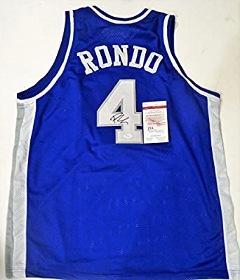 Rajon Rondo Signed Kentucky Wildcats Custom XL Jersey w/JSA Witness COA Witness