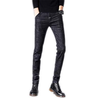 Amazon.com: Pantalones vaqueros de otoño con cordón elástico ...