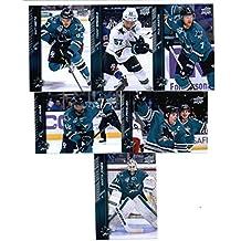 2015-16 Upper Deck San Jose Sharks Hockey Master Team Set of 12 Cards: Brent Burns(#151), Joe Thornton(#152), Logan Couture(#153), Marc-Edouard Vlasic(#154), Patrick Marleau(#155), Tomas Hertl(#156), Martin Jones(#404), Matt Nieto(#405), Tommy Wingels(#406), Joel Ward(#407), Joe Pavelski(#408), Paul Martin(#409) in Protective Snap Case