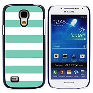 Graphic4You Color Stripes Pattern Design Hard Case Cover for Samsung Galaxy S4 Mini (Tiffany Blue)