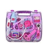 Puzzle Simulation Medicine Box Doctor Toys Set Kids Pretend Play Doctor Set Pink