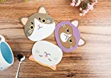 YunKo QUTE Cat Cup Mat Silicone Rubber Coaster for