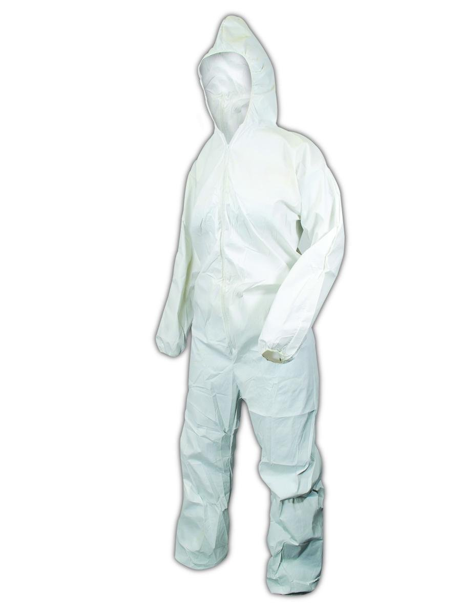 Kimberly-Clark 49113 KleenGuard A20 Breathable Particle Coverall w/Hood, Large, White (Pack of 24)