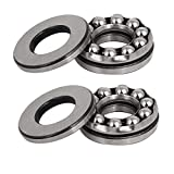 uxcell12mmx28mmx11mm Single Row Thrust Ball Bearing 51201 2pcs