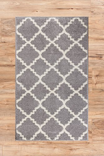 Harbor Trellis Grey Quatrefoil Geometric Modern Casual Area Rug 2x4 23 X 311 Easy To Clean Stain Fade Resistant Shed Free Contemporary Traditional