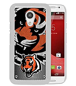 Motorola Moto G (2nd generation) Case,Cincinnati Bengals 04 White For Motorola Moto G (2nd generation) Case