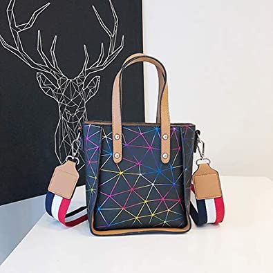4a4af36618 Amazon.com  Brand Women Shoulder Bags Fashion Designer Woman Bag PU Leather Handbag  Female Top-handle Tote Bag Bolsa Feminina Color Multicolor 23x10x20cm  ...