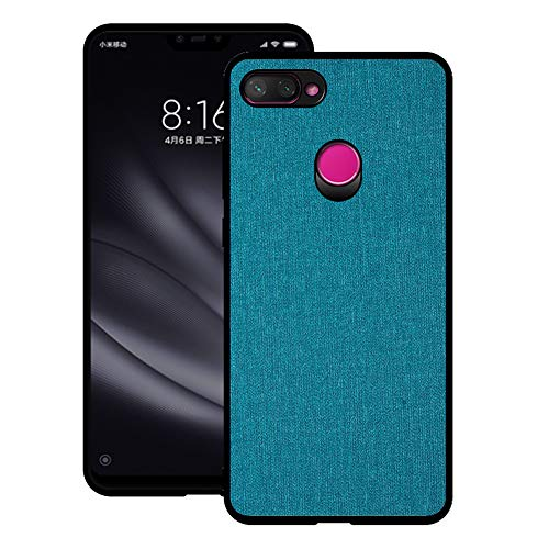 - Xiaomi Mi 8 Lite Case, CJ Sunshine Mobile Phone Shell with Fabric Back Cover All-Inclusive Shatter-Resistant Hard Shell Silicone Soft Edge Case for Xiaomi Mi 8 Lite(Navy)