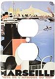 3dRose LLC lsp_149240_6 Vintage Marseille Porte De L Afrique Du Nord Steam Ship Travel Poster 2 Plug Outlet Cover