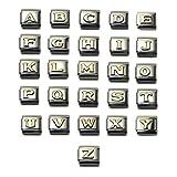 Letter Alphabet Italian Charm Bracelet Link, 9mm Type Medium Size, SELECT ALPHABET
