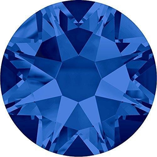 2000, 2058 & 2088 Swarovski Flatback Crystals Non Hotfix Capri Blue | SS12 (3.1mm) - Pack of 50 | Small & Wholesale Packs