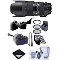 Sigma 50-100mm f/1.8 DC HSM Art Lens for Nikon Cameras - Bundle w/Filter Kit, Flex Lens Shade, Lens Wrap, FocusShifter Follow Focus, LensAlign MkII Focus Calibration System, Cleaning Kit, Capleash II