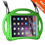 iPad 2 Case For Kids,TopEsct Shockproof Silicone Handle Stand Case Cover For Apple iPad 2,iPad 3,iPad 4(iPad 2/3/4,Green)