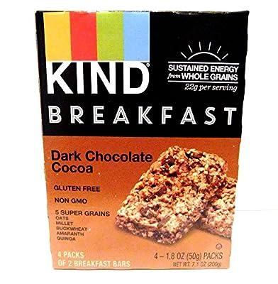 KIND Breakfast Bars - Dark Chocolate Cocoa - 1.8 ounces - 4 ct
