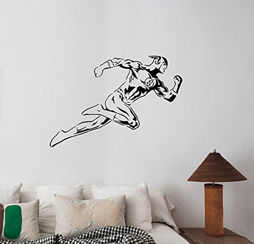 Ideas Decorations Superheroes (The Flash Wall Decal Vinyl Sticker DC Comics Superhero Art Decorations for Home Bedroom Playroom Boys Room Decor Ideas)