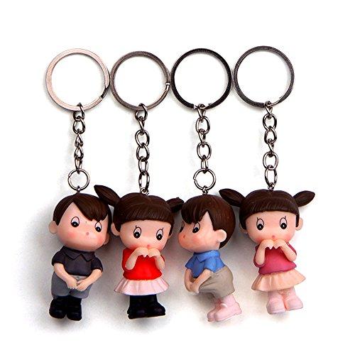 Doll Keychain - 4 Pcs Lovable Doll Key Buckle Decorated Cute Key Chain for Car Key Ring or Bags Key Buckle
