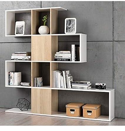 Habitdesign F00530301030_OAK Kafka D11 - Estantería libreria para ...