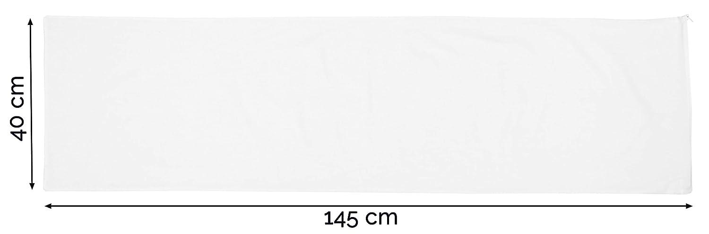 Otras Medidas Mezcla de algod/ón Serie Saba para Cama de 135-150 cm ZOLLNER 2 Fundas de Almohada 40x145 cm