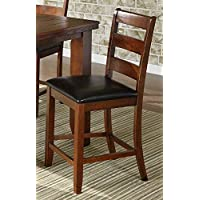 Milton Greens Stars Alicante Pub Chair, Dark Brown, Set of 2