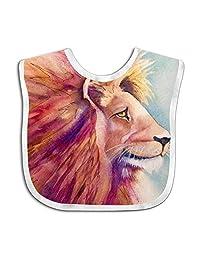 QIZI Unisex Baby Bandana Drool Bibs Giant Lion Cotton Neck Saliva Adjustable Towel Toddler for Girls Boys