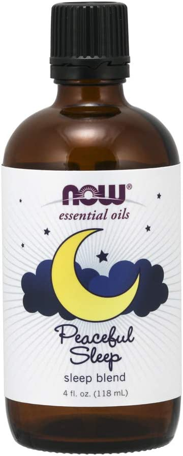 Now Essential Oils, Peaceful Sleep Blend, Relaxing Aromatherapy Scent, Blend of Pure Essential Oils, Vegan, 4-Ounce