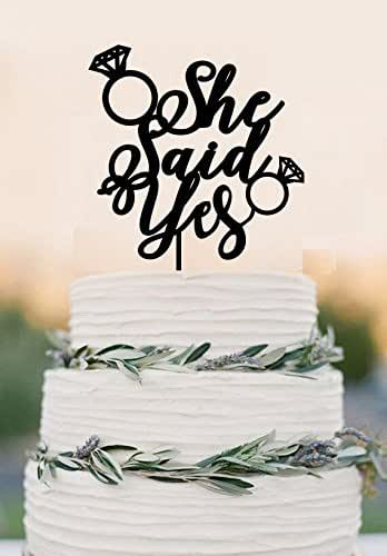 Amazon Com She Said Yes Wedding Cake Topper Bridal Shower