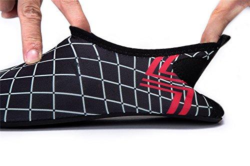 E049 Rápido Piscina de Agua de de Secado Playa Unisex de Soles blackbdwz LEKUNI Respirable Natación Calzado Color LK Zapatos Agua Zapatos de qCRRxv