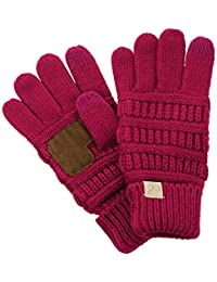 C.C. Kids' Children's Cable Knit Warm Anti-Slip...