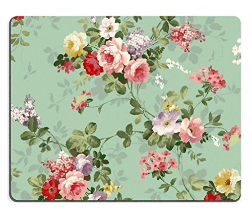 Punktail Mouse Pads eoprene Rubber Backing Custom Imaged Mouse Pad, 250X200X2-mm - Vintage Floral Flowers Pattern