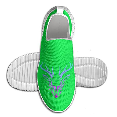 Camouflage Deer Mens Running Shoes Walking Lightweight Casual Athletic Sneakers Breathable (Logs Christmas Lauren)