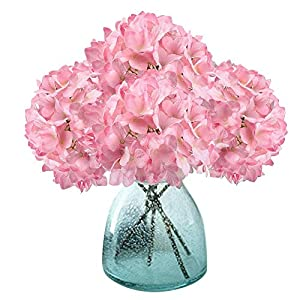Meiwo Artificial Hydrangea Flowers, 2 Pcs Fake Hydrangea Silk Flowers to Shine Your Wedding Scene Arrangement and Home Party Decor(Pink) 71