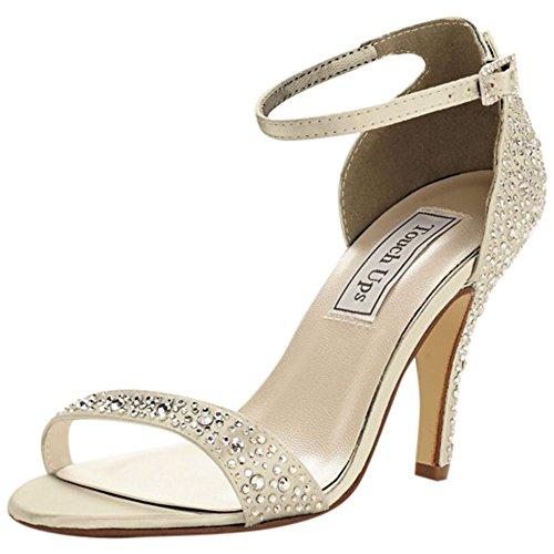 Färgbar Kristall Förskönat Sandal Med Touch Ups Stil Rena Champagne