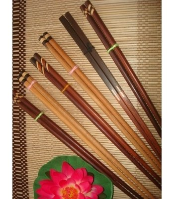 Tailandia - Palillos de madera Thai