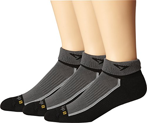 Drymax Sport Trail Running 1/4 Crew Turn Down 3-Pair Pack Gray Crew Cut Socks Shoes 7HrM78HS
