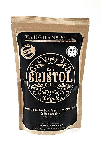 Bristol Coffee Light Roast Ground Coffee - Single Origin Premium Specialty - Highest Quality Nicaraguan Coffee - 100% Arabica - Sustainably Grown - Non-GMO - (12.61 oz. Ground Coffee)