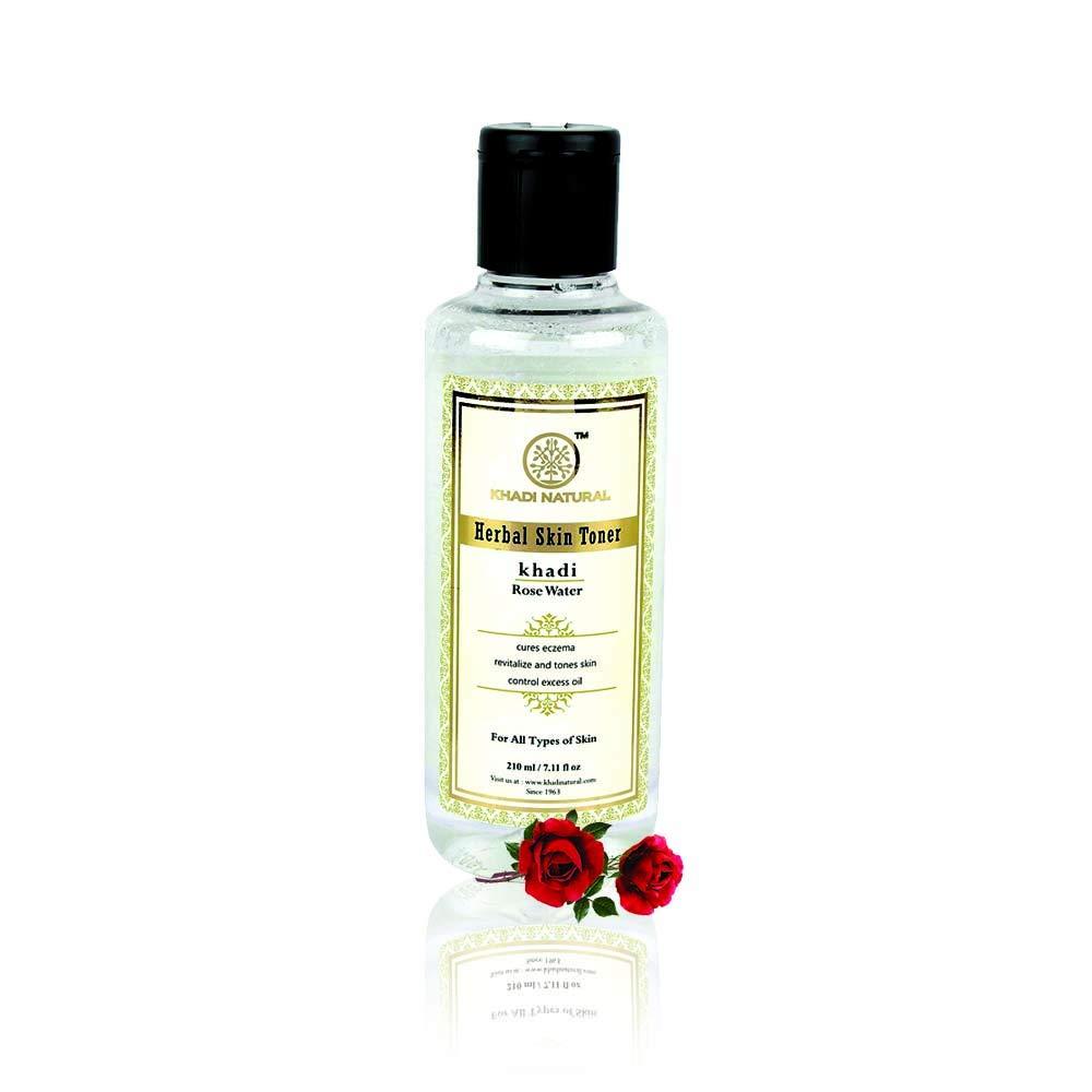 Khadi Natural Rose Water Herbal Skin Toner, 210ml product image