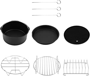 Rosvola Non-Stick Coating Fryer Accessories Set, Air Fryer Accessories Parts, Dishwasher Safe for Beef